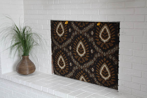Make an Upholstered Fireplace Cold Air Stopper  ModHomeEc