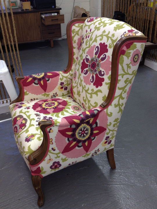 How To De Upholster A Wingback Chair ModHomeEc