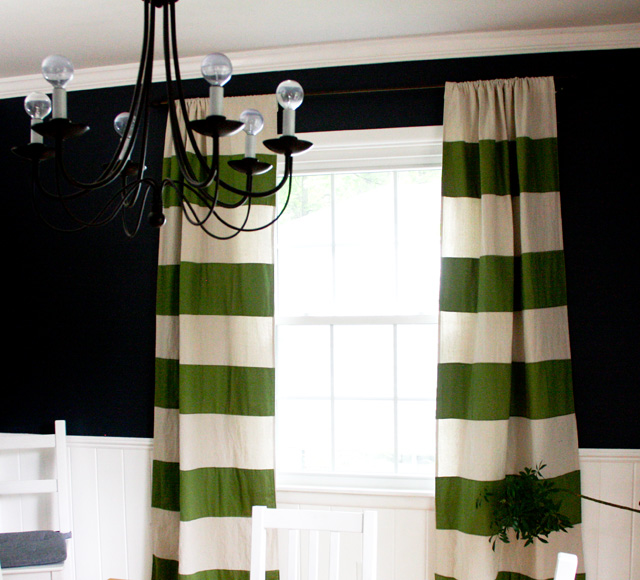 Sew Your Own Preppy Striped Drapery Fabric Panels ModHomeEc