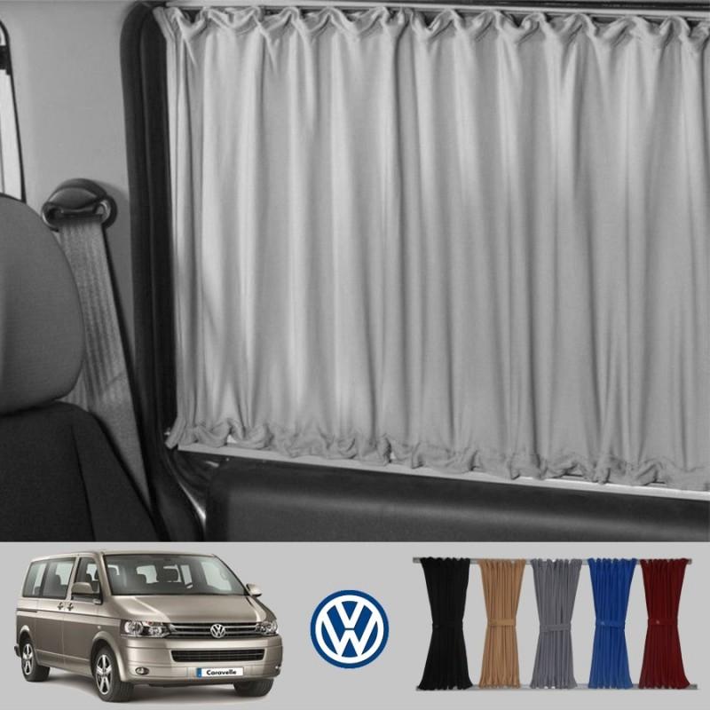 VW Transporter T4 Kombi Van Curtain Kit 3 Windows Including Rails