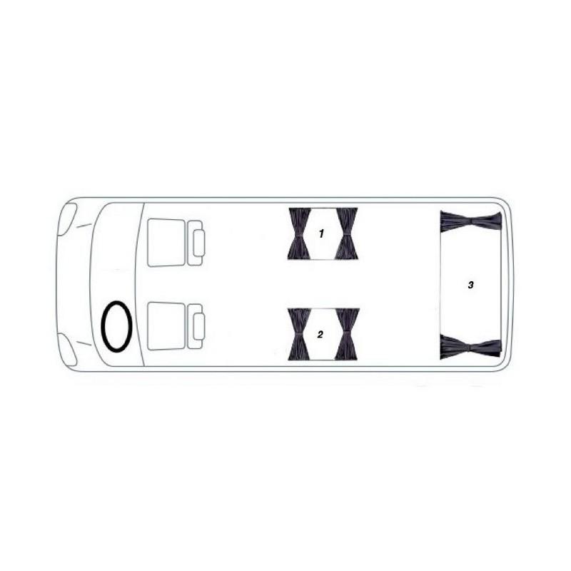 VW Transporter T4 Kombi Van Curtain Kit (3 Windows