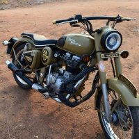 Modified Royal Enfield Desert storm 500 Bullet in Telangana