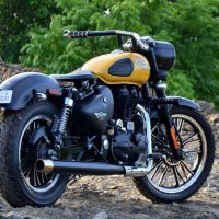 Modified Royal Enfield Classic 350 India - Bullet Mod Orange