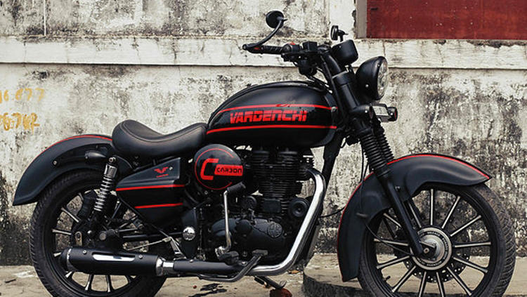 Royal Enfield Classic 350 'Carbon' by Vardenchi