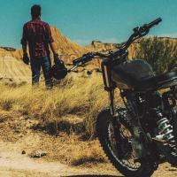 Custom Honda NX650 Scrambler by Dab Motors
