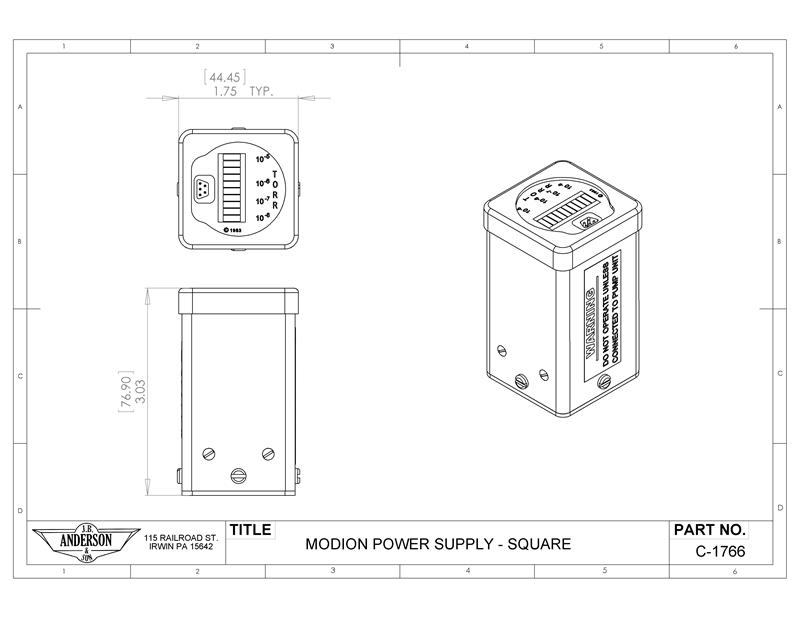 Ion Pump Power Supply C-1766Q