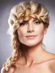 formal braided hairstyles long