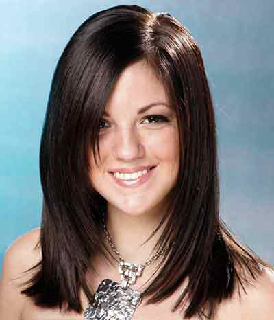 30 Shoulder Length Straight Hairstyles With Side Swept Bangs