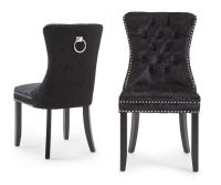 Cameo Black Fabric Dining Chair