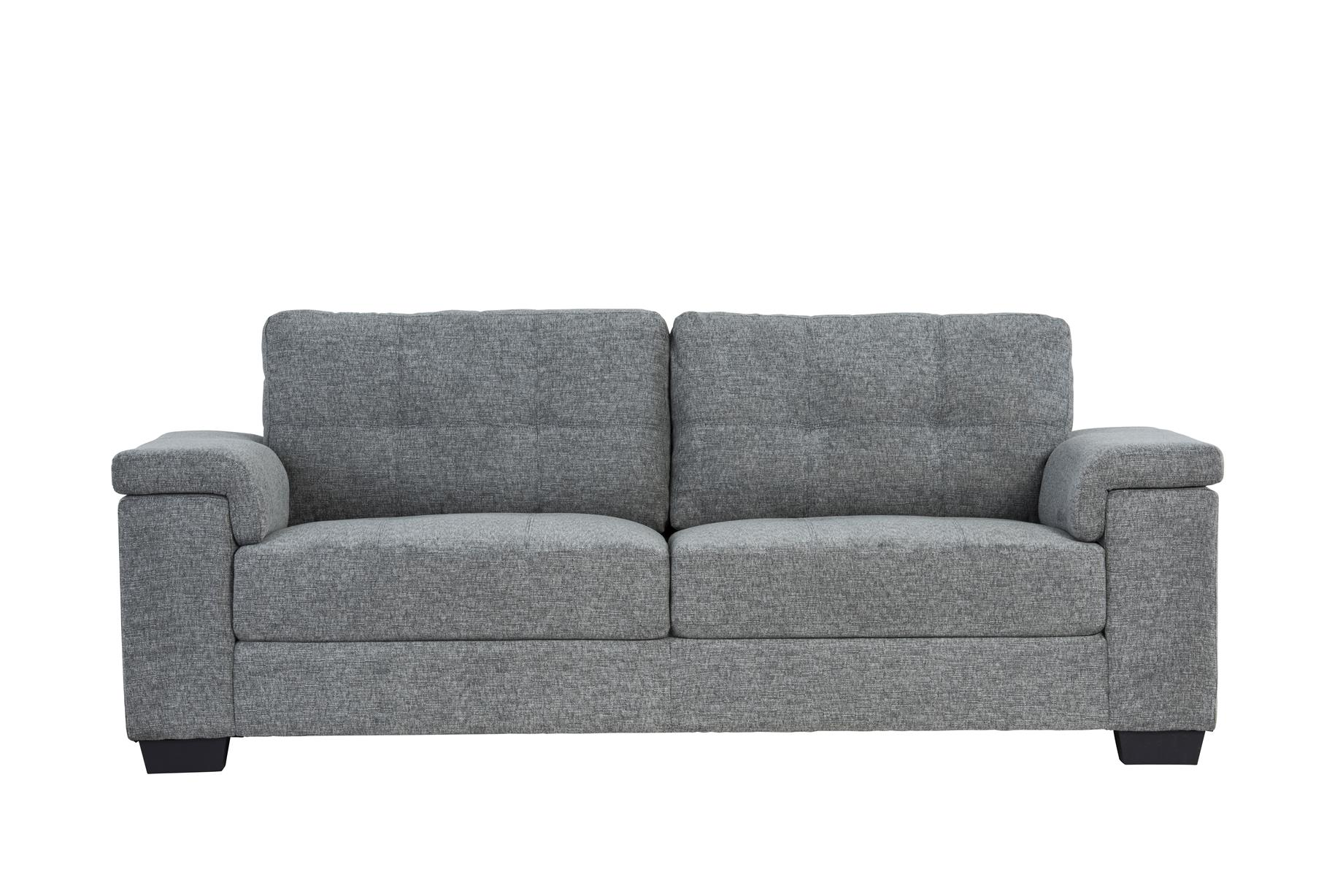 grey fabric sofa next doggie chloe living room furniture free delivery previous