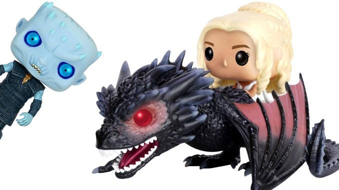 Drogon, Daenerys, and Night King Game of Thrones Funko POP Figures
