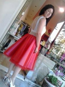 Κορμάκι εξώπλατο και φούστα τούλι
