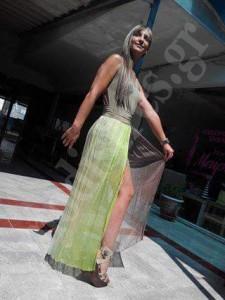 πρασινο φορεμα