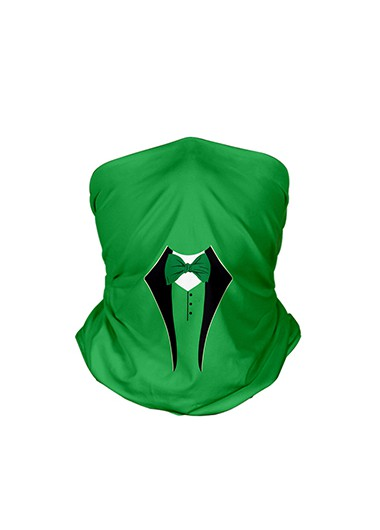 Modlily 9.4 X 17.7 Inch Green Bowknot Detail Bandana - One Size