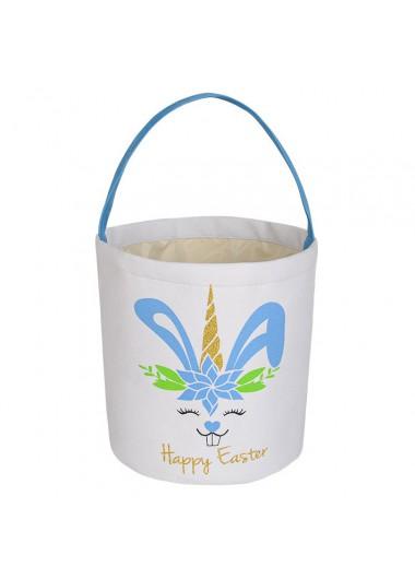 Modlily 9.1 X 9.8 Inch Velvet Easter Rabbit Print Bag - One Size