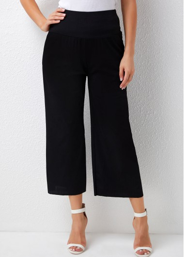 Modlily High Waisted Ribbed Solid Loose Pants - XL
