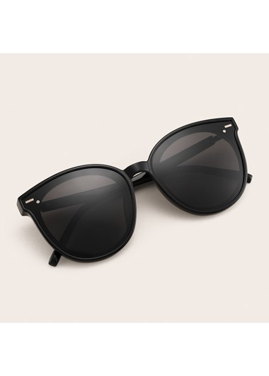 Modlily 1 Pair TR Cat Eye Frame Black Sunglasses - One Size