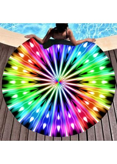 Modlily Multi Color Circular Design Beach Blanket - One Size