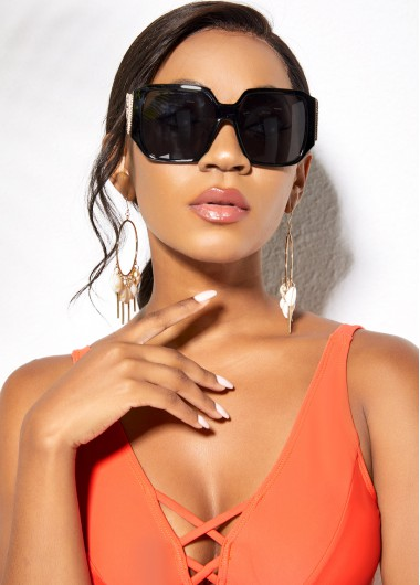 Modlily Cat Eye Frame Wing Design Sunglasses - One Size