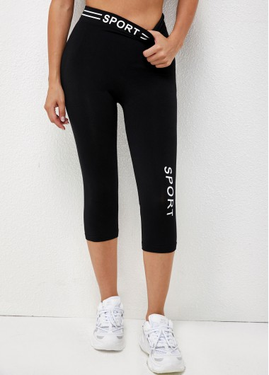 Modlily Letter Print High Waisted Skinny Pants - L