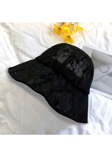 Modlily Lace Solid Pierced Bucket Hat for Women - One Size