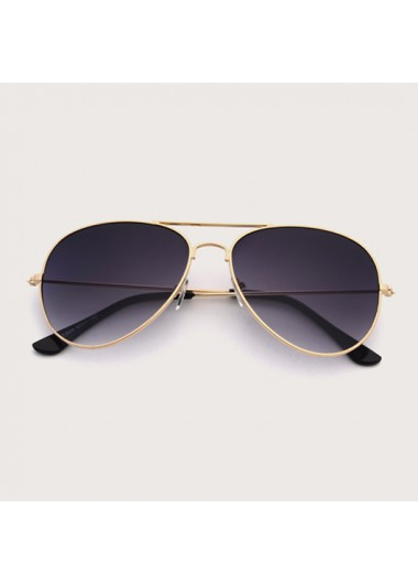 Modlily Metal Detail Black Butterfly Frame Sunglasses - One Size