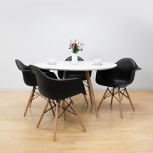 Paris Tower Table 5-piece Dining Set