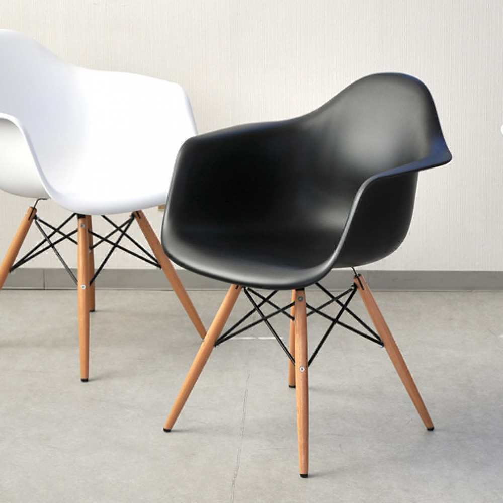 black plastic chair with wooden legs pictures of chairs paris tower arm wood leg 2 pack