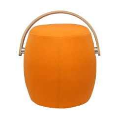 Orange Bucket Chair Neck Support For Office Mod Made Stool With Handle Ottoman