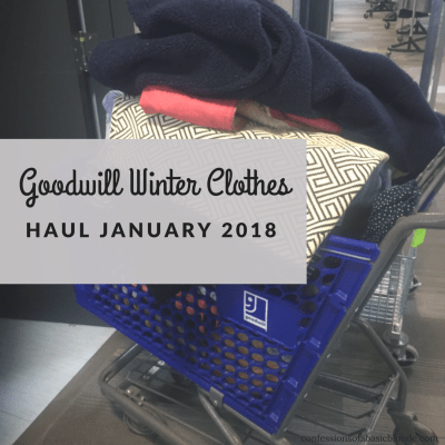 Goodwill Winter Clothes Haul January 2018