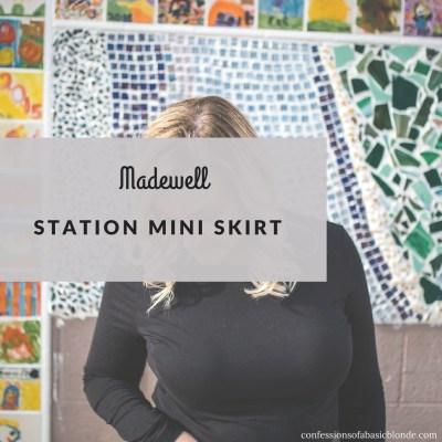 Madewell Station Mini Skirt