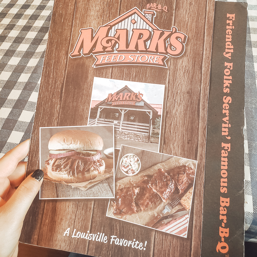 Menu at Mark's Feed Store