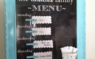 Get crafty, get organized with a family menu board