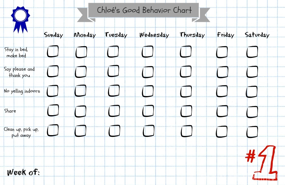 chloes good behavior chart