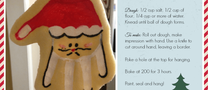 Make it! Salt Dough Santa Hand Ornament