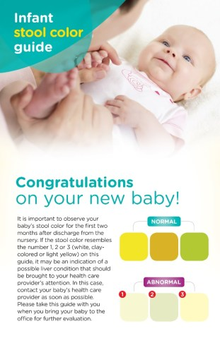 pampers stool card
