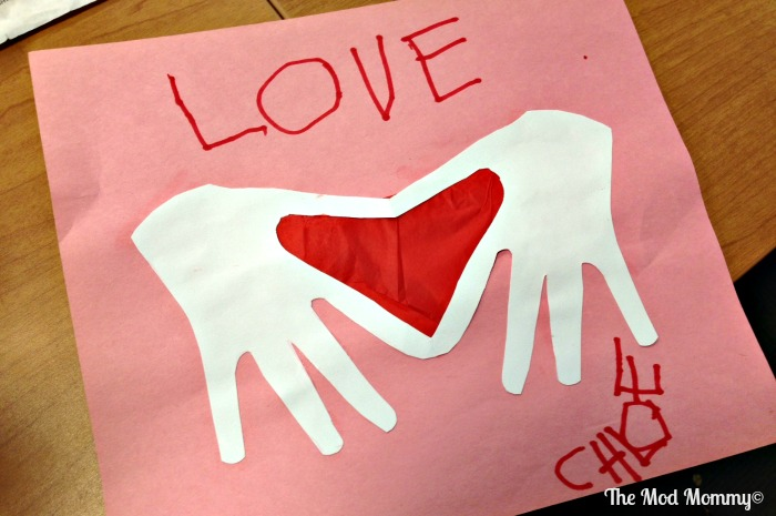 Handprint Heart Craft