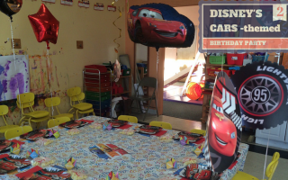 #DisneySide Cars-themed party fit for a toddler
