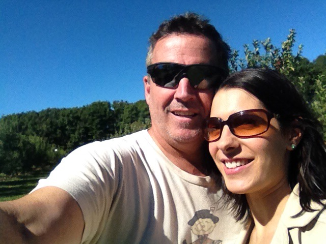 Courtney and hubby sunglasses