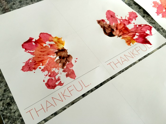 Leaf Printing Thanksgiving Cards 2