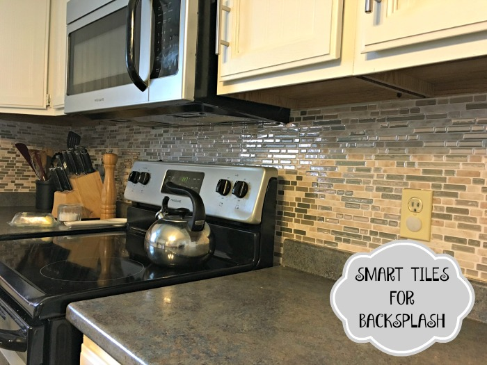 Kitchen Makeover on a Budget with Wainscoting Wallpaper and Smart Tiles