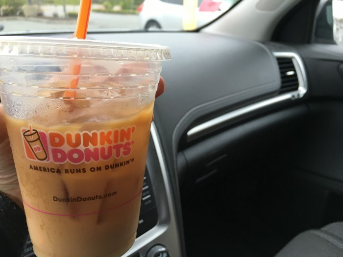 dunking donuts iced coffee day