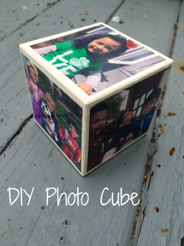 DIY Photo Cube: The cool thing about the photo cube is that there are six sides, allowing you to use six photos. It's a pretty clever way to showcase your pics.