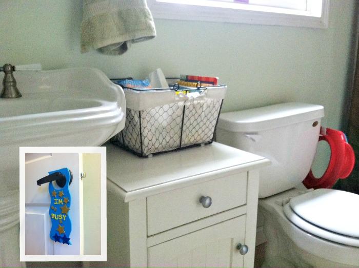 DIY: Potty Basket and Privacy Door Hanger