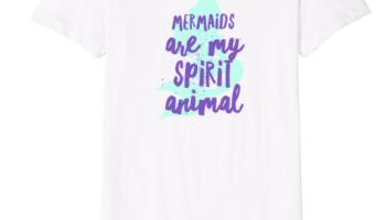 c83ecb3de Mermaids Are My Spirit Animal Funny Women's Young Girls T-Shirt