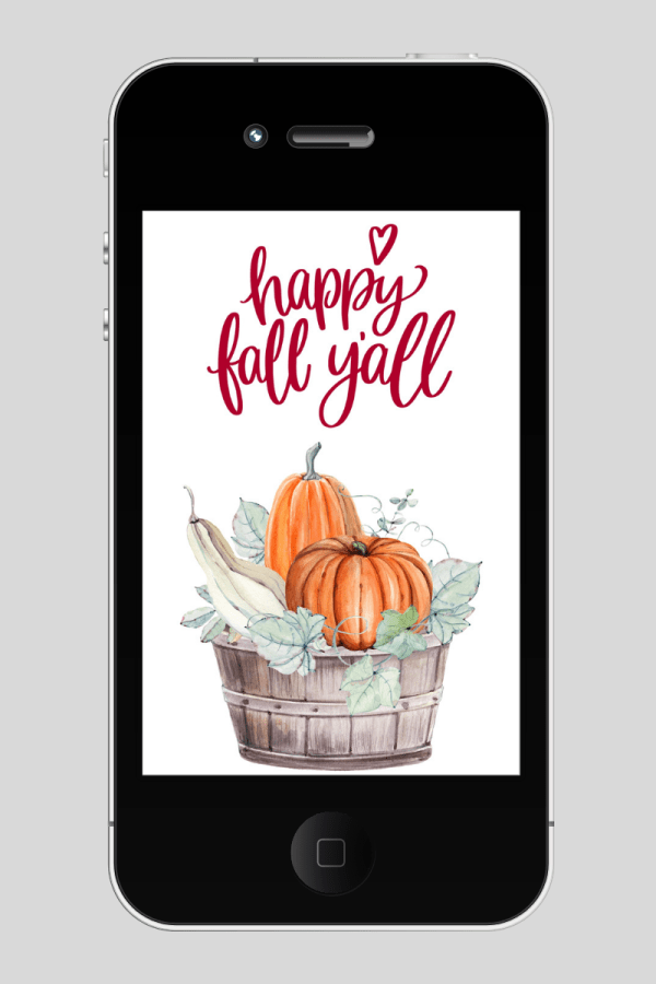 happy fall y'all free tech iphone wallpaper