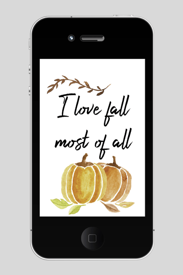 I love fall most of all free tech iphone wallpaper