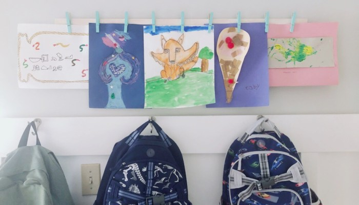 DIY: Yardstick Art Display