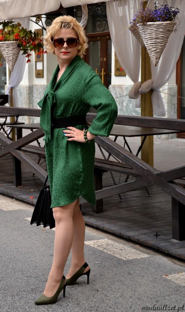Zielona sukienka krótka