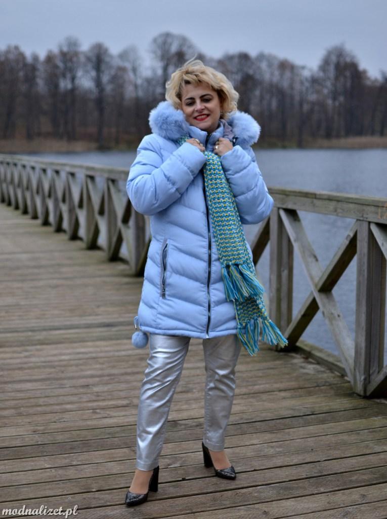Błękitna kurtka Modna Lizet